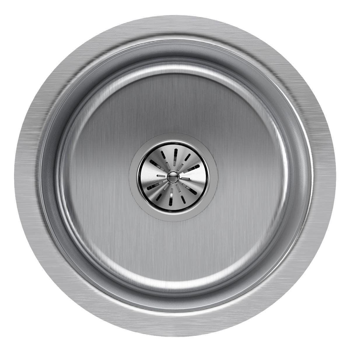Elkay ELUH12FB Lustertone Classic Single Bowl Undermount Stainless Steel Sink