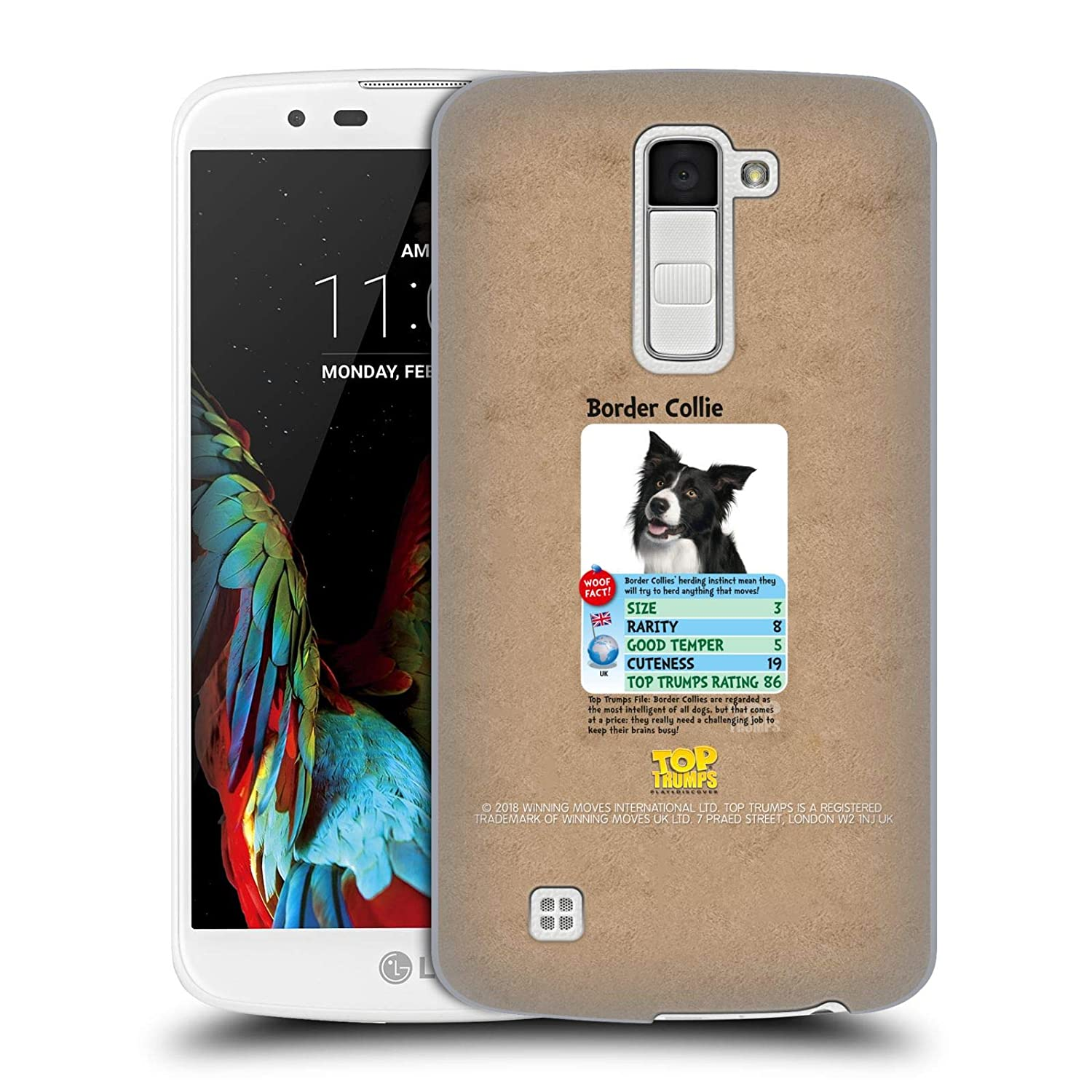 Official Top Trumps Border Collie Dogs 2 Hard Back Case Compatible for LG K10 / K10 Dual SIM