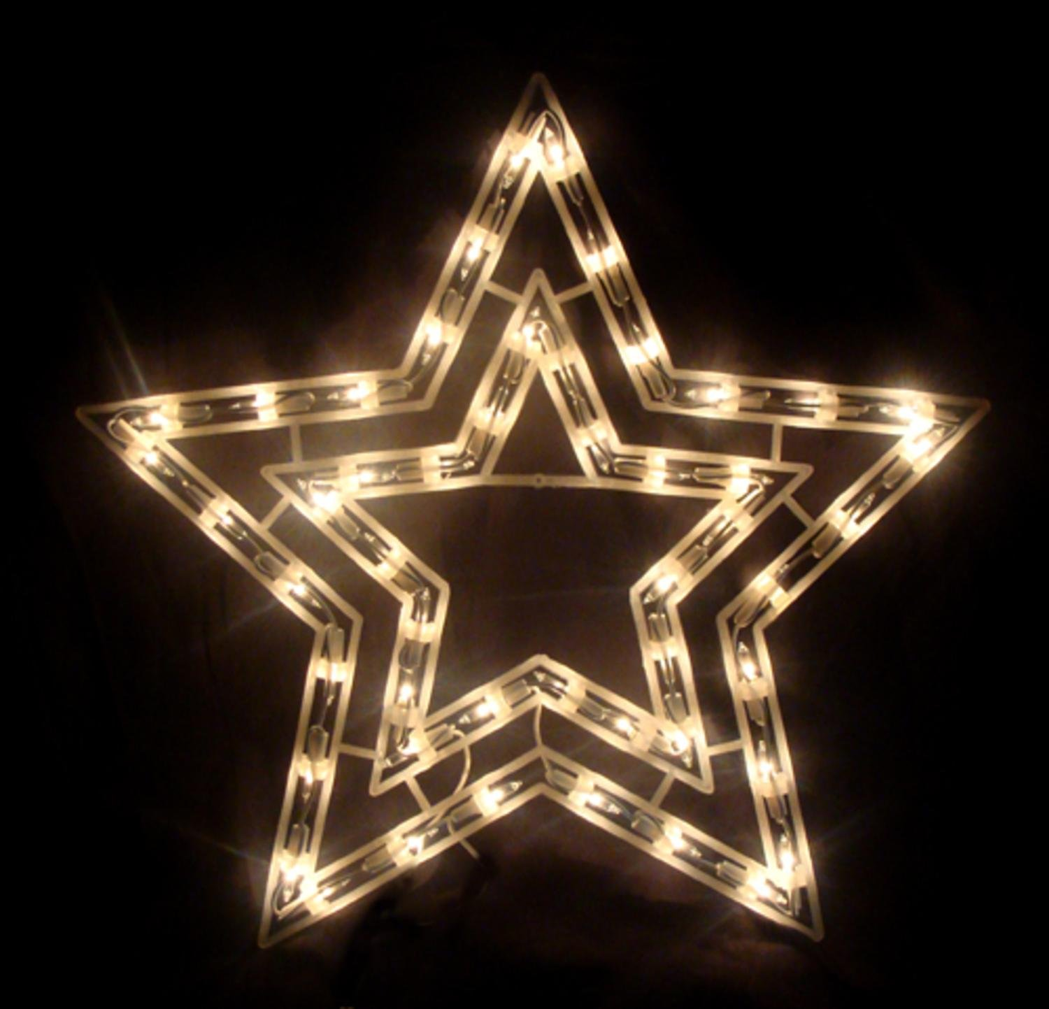 Amazon sienna 17 clear lighted star christmas window amazon sienna 17 clear lighted star christmas window silhouette decoration home kitchen aloadofball Gallery