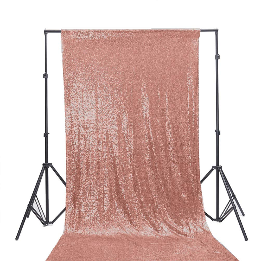 TRLYC 20Ft W by 10FT H Sparkly Ivory Sequin Backdrop Curtain for Wedding Halloween Thanksgiving Day Christmas 20ft*10ft