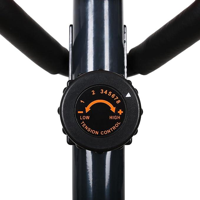 Klarfit - Bicicleta elíptica Ellifit FX 250 con ordenador de a bordo y pulsómetro - para crosstrainer con un peso máximo soportado de 110 kg., ...