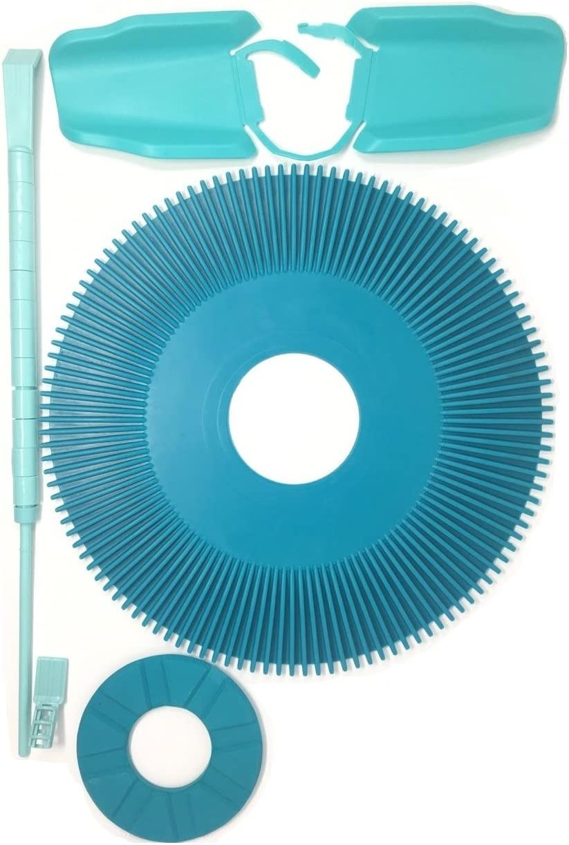 Southeastern Replacement Pleated Seal Disc Foot Pad Wing Kit Roller Bumper Strap Combo for Kreepy Krauly Pool Cleaner K12896 K12894