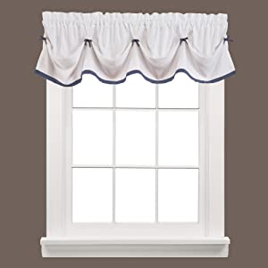 SKL Home by Saturday Knight Ltd. Kate Valance, Blue, 58 inches x 13 inches