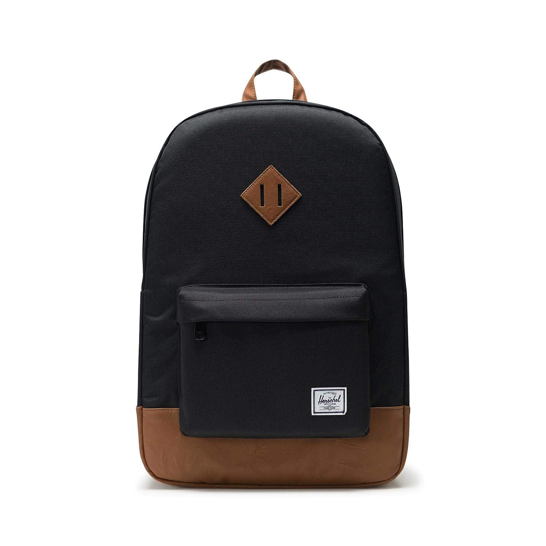 [ハーシェルサプライ] Heritage 10007-00055-OS B00838RWI4 Black/Tan Synthetic Leather