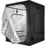"""iPower 60""""x60""""x78"""" 5'x5' Hydroponic Mylar Grow Tent with Observation Window, Tool Bag and Floor Tray for Grow Light and Indoor Plant Growing"""