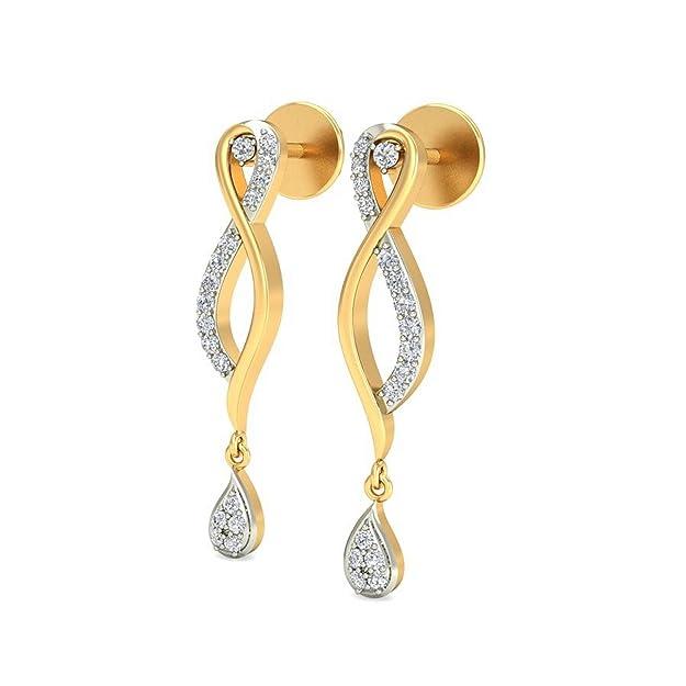Belle Diamante 14KT Yellow Gold and Diamond Drop Earrings Women