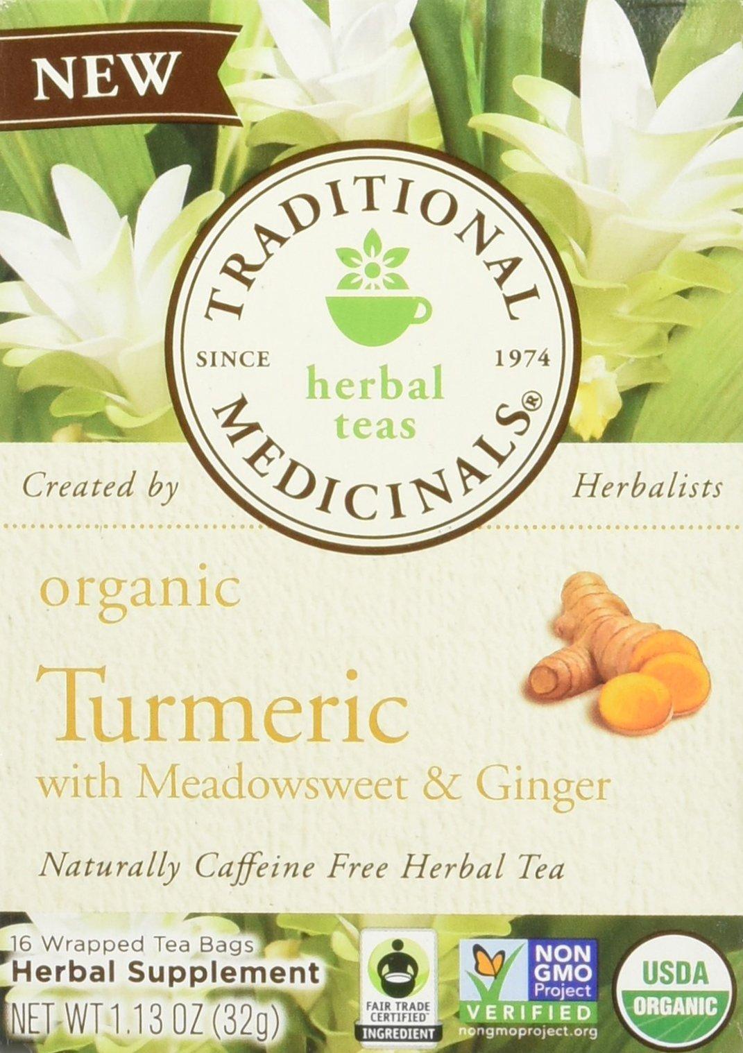 Traditional Medicinals Tea Turmeric Midwest Ginger Organic, 16 ct