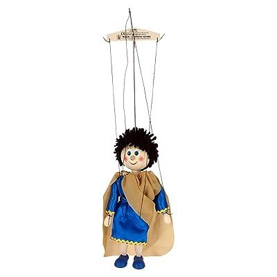 ABA 20cm HELIOS Marionnette en bois jouet (Multicolore)