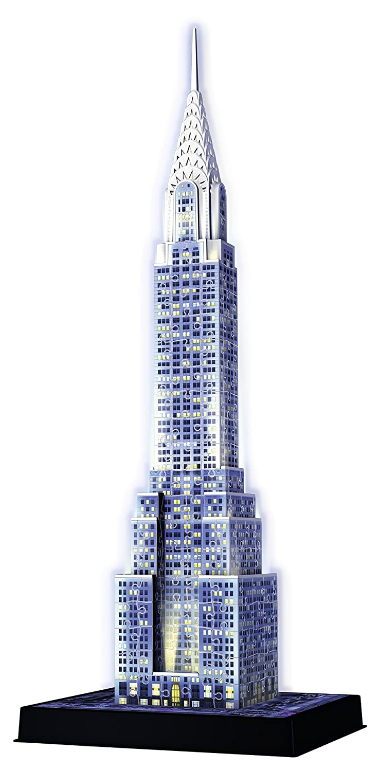 Ravensburger Chrysler Building - Night Edition, 216pc 3D Jigsaw Puzzle® 12595 Spielen / Raten