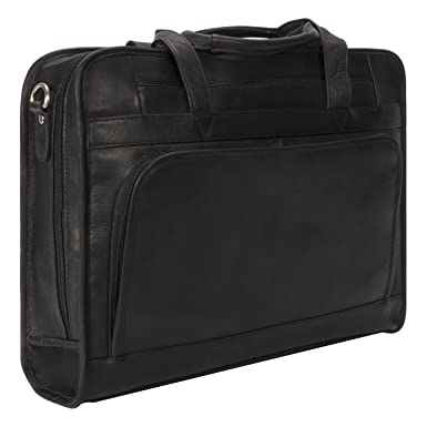 1a25c7f57d9d Muiska Leather 17 quot  Laptop Computer Dual Handle Top Zippered Double  Compartment Slim Professional Briefcase Bag