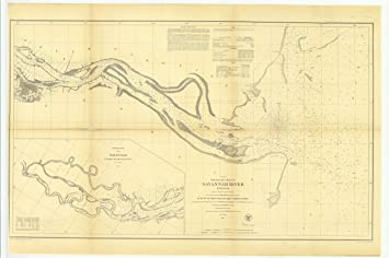 Amazon Com Vintography 8 X 12 Inch 1855 Us Old Nautical Map Drawing