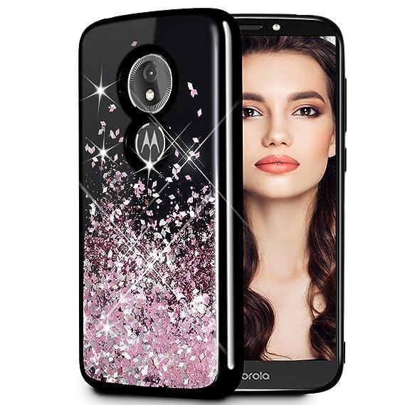 online store bbe00 1c18f Caka Moto E5 Play Case, Moto E5 Cruise Glitter Case [Starry Night Series]  Fashion Luxury Bling Flowing Liquid Floating Sparkle Glitter Girly TPU ...