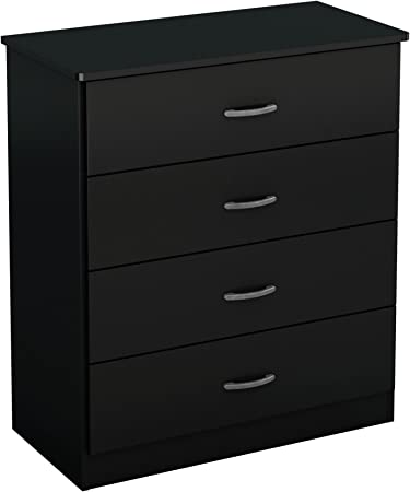 Amazon Com South Shore Fba Libra 4 Drawer Chest Pure Black
