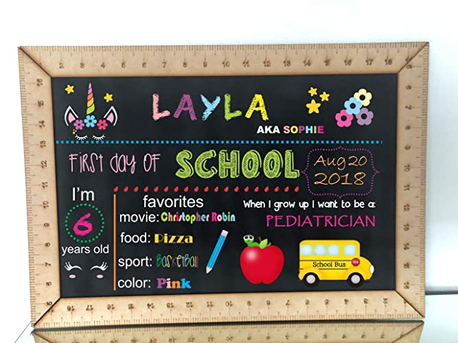 amazon com chalkboard sign ruler framed blank chalkboard back to