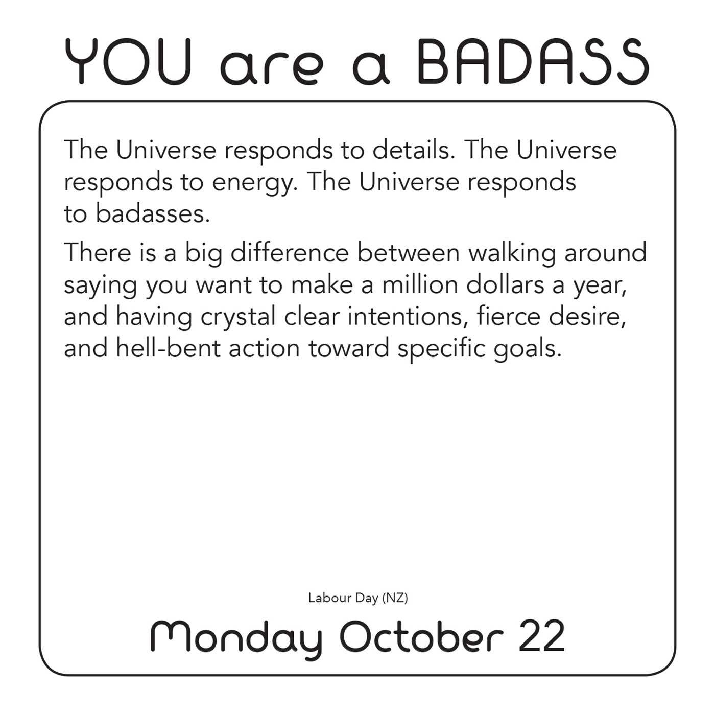 You Are A Badass 2018 Day To Day Calendar Jen Sincero