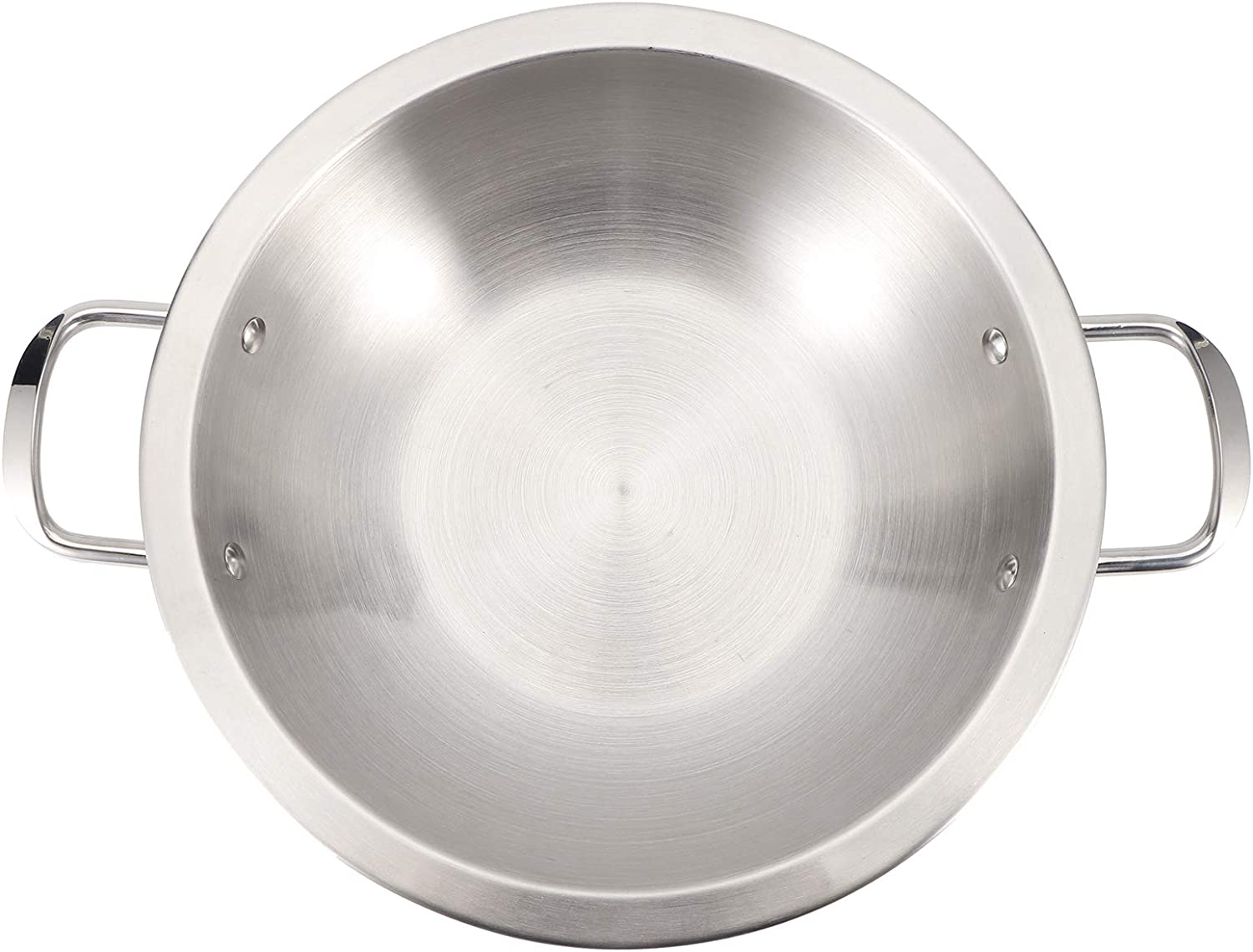 Stainless Steel Pan, Curved Hot Pot Wok Soup Pan Wide-side Pot Composite Bottom Pot Induction Cooker General Household Cooking General Purpose Pot