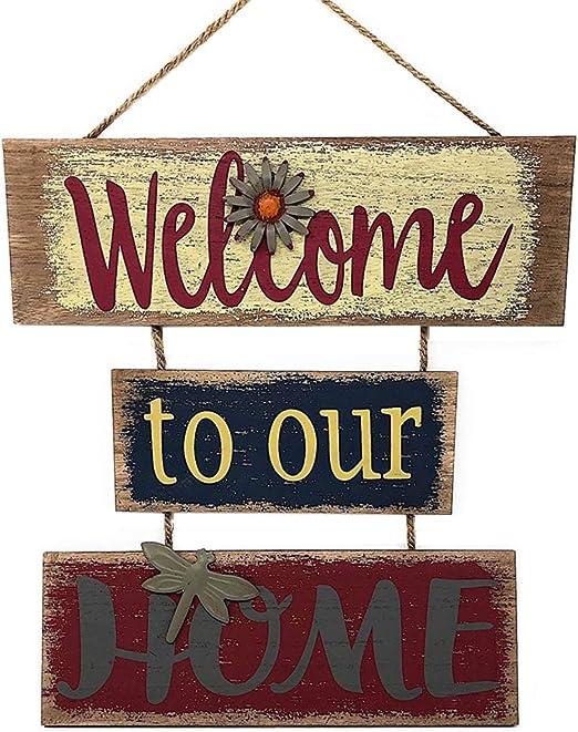 Amazon.com: Cartel de bienvenida para decoración de puertas ...