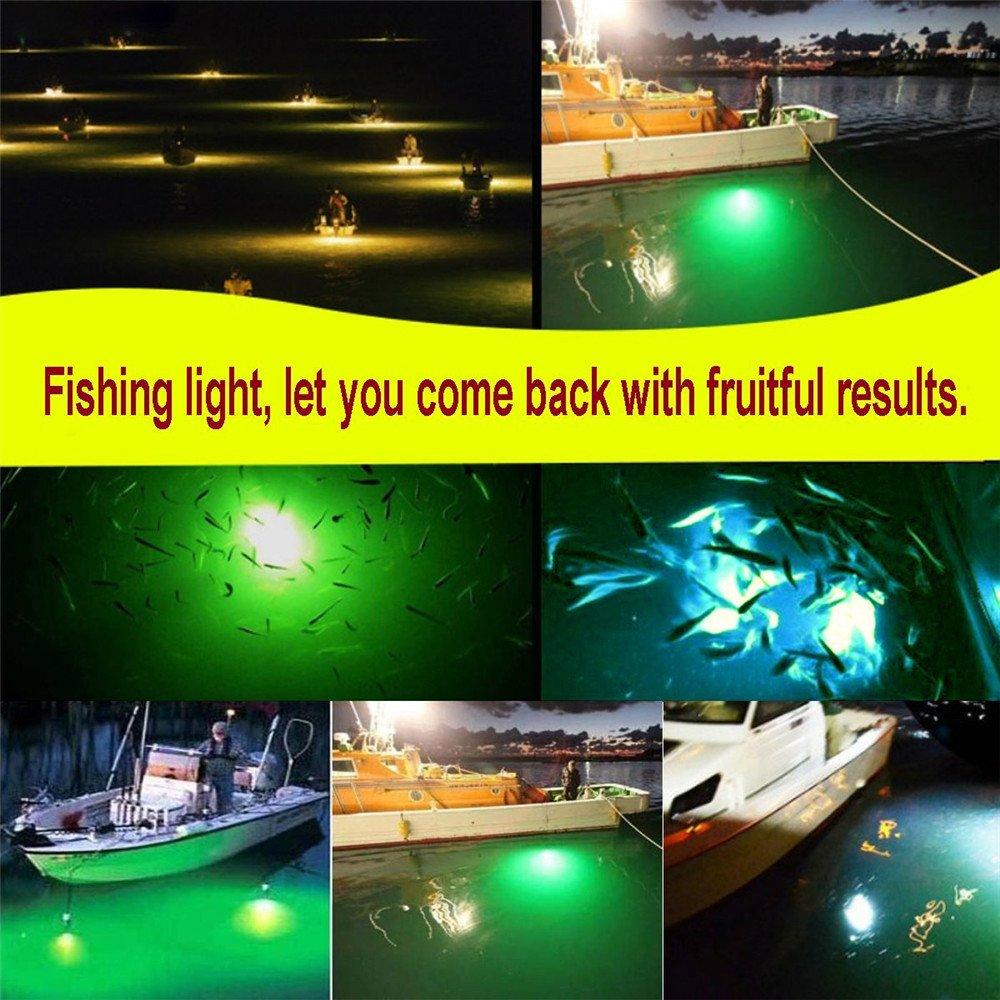 12V 108LED Green Underwater Submersible Night Fishing Light Boat Attract Fish