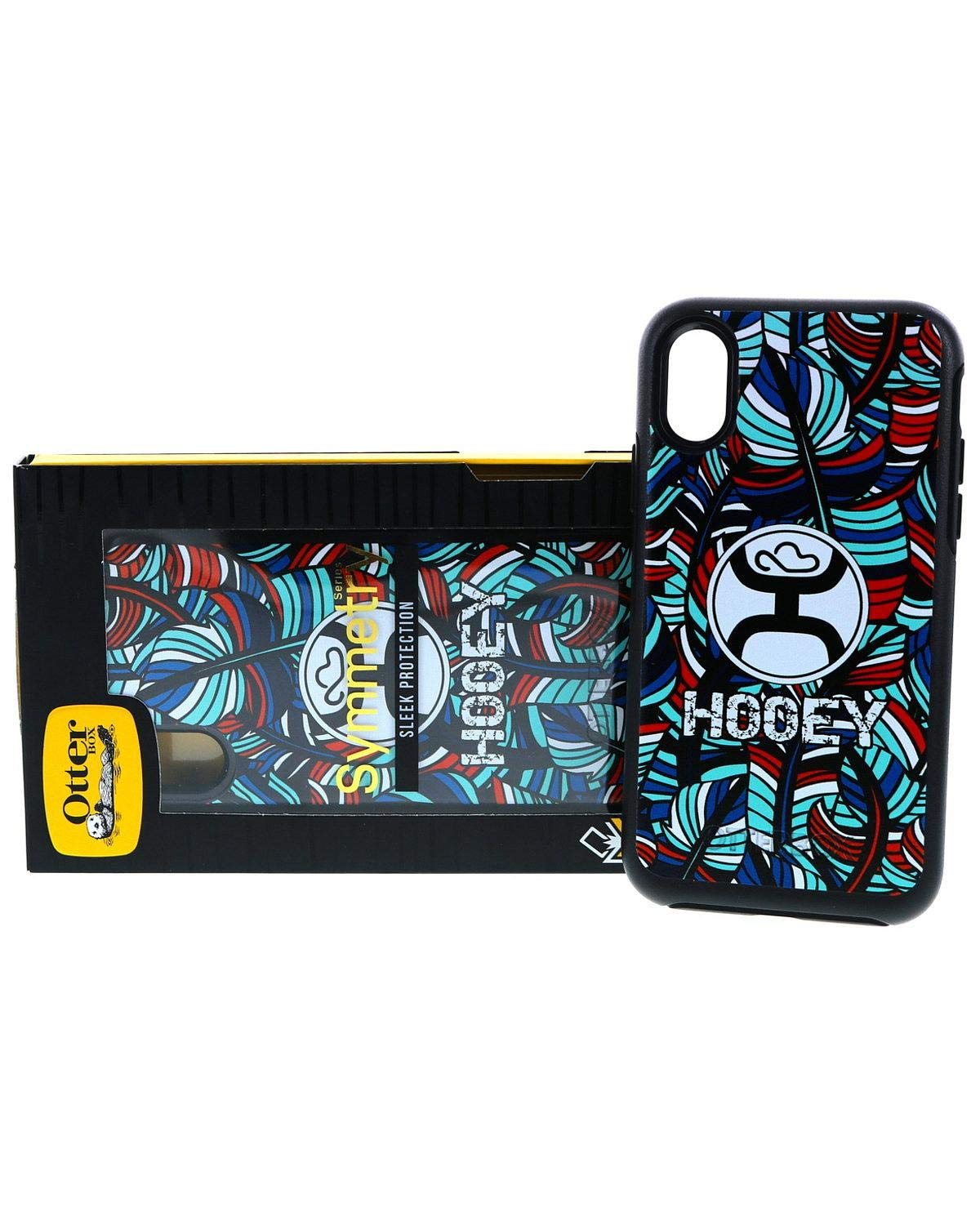 timeless design dce00 a8546 Amazon.com: Hooey Unisex Hooey Feather iPhone X Case Multi One Size ...