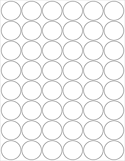 6 sheets 288 1 1 4 inch round white stickers for