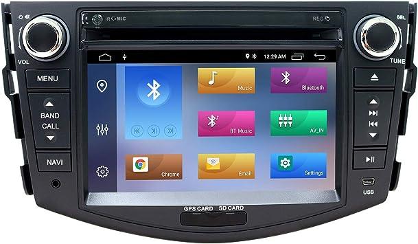 7 Pulgadas Android 10 Autoradio 2 DIN para Toyota RAV4 2006-2012,Soporte CD DVD GPS Bluetooth Am PM WiFi SWC DSP Dab+,Soporte AHD cámara de visión ...