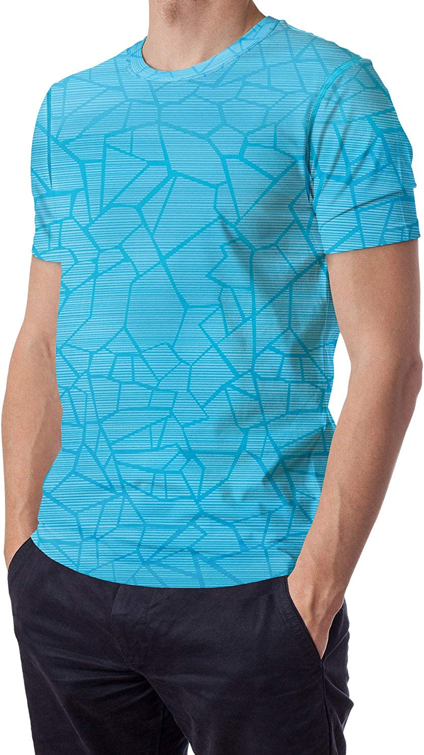 Moisture Wicking T-Shirt for Men Athletic Undershirt Dry Fit Dri-Fit Short Sleeve Tee Shirt 3-Pack