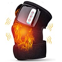 Ms.Dear Heated Knee Massager for Pain Relief Heated Vibration Knee Brace Wrap Heating Massage