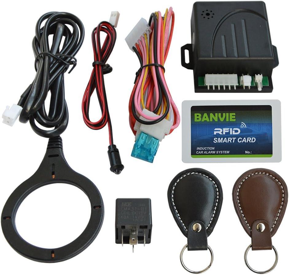 Sistema de Alarma de Seguridad para inmovilizador de Coche, Bloqueo electrónico antirrobo RFID Oculto, Conveniente para Insertar el Bloqueo del ...