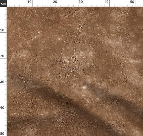 mercurio, color, bronce, marrón, planeta, sistema solar, tela del espacio, impresión individual de Spoonflower, diseño de Weavingmajor impreso sobre telas, Satén de algodón orgánico, Meter: Amazon.es: Amazon.es