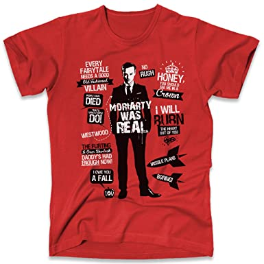Moriarty Was Real Quotes Sherlock Holmes, Men's T-Shirt, Red