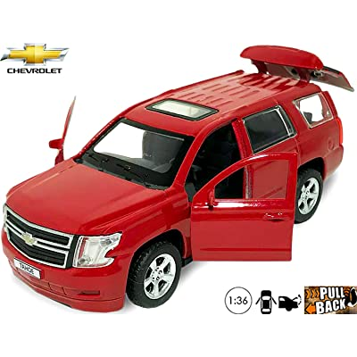 Chevy Tahoe Toy Car Chevrolet - 1/36 Scale Diecast Metal Model - Russian Collectible Die-cast Cars: Toys & Games