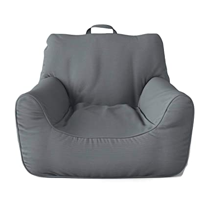 Awesome Amazon Com Pillowfort Gray Structured Large Bean Bag Chair Caraccident5 Cool Chair Designs And Ideas Caraccident5Info