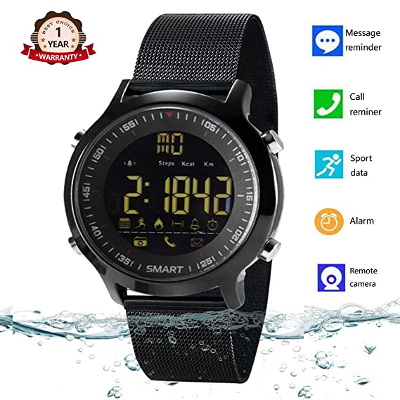 info for 7c7b3 83caa Smart Watch Waterproof Bluetooth Smartwatch Sports Smart Watches for Men  Women Boys Kids Android IOS iphone X 8 7 6 Samsung Huawei with Pedometer ...