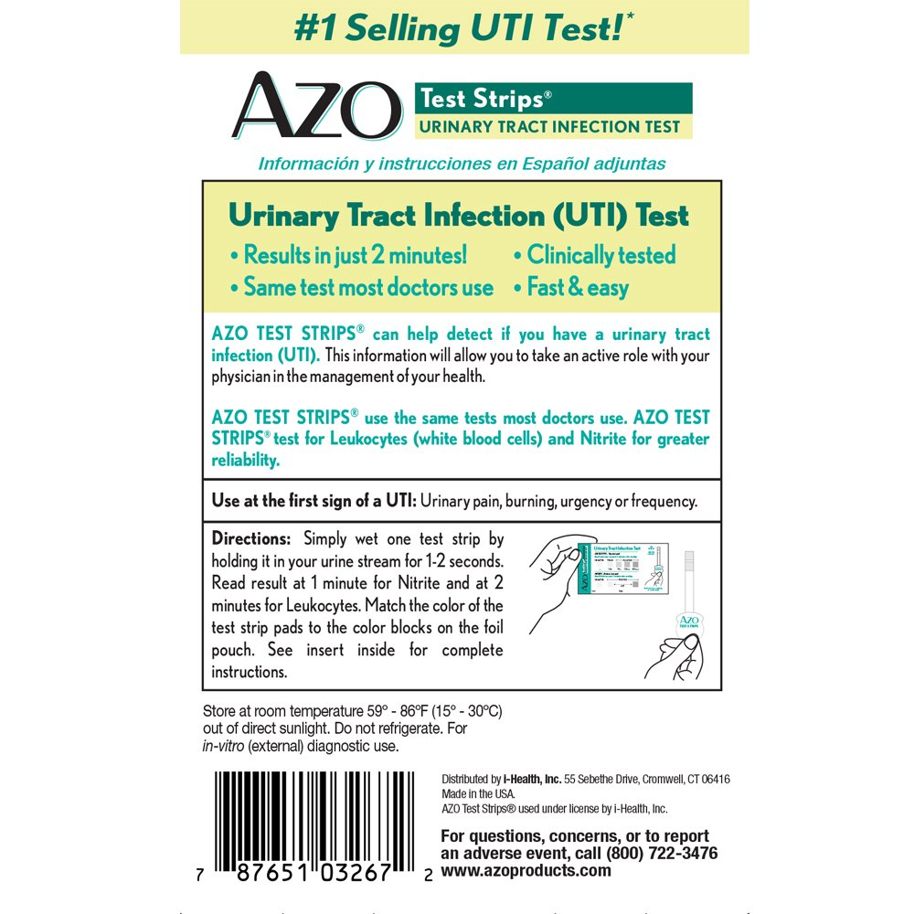 Amazon.com: AZO Test Strips, Urinary Tract Infection Test ...