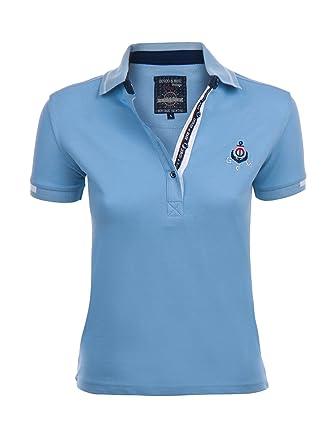Giorgio Di Mare Mujer Polo Lara Polo Camiseta Azul L: Amazon.es ...
