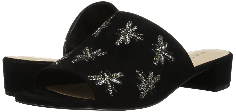 Nine West Women's Rahas Suede Slide Sandal B071D5FQPJ 5.5 B(M) US Black