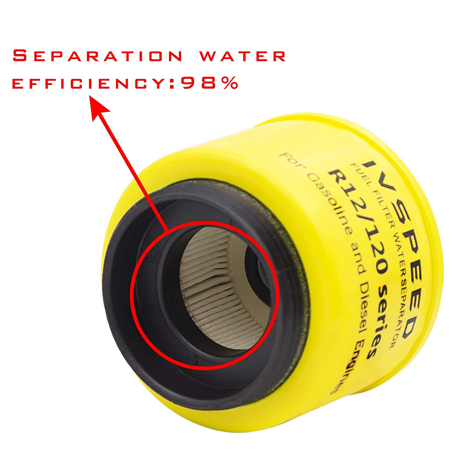 R12T diesel Fuel Filter//Fuel Water Separator 120AT NPT ZG1//4-19 Fittings Marine Spin-on for Racor 140R 120AT S3240 Automotive Parts Complete assy Filter Fit Diesel Engine
