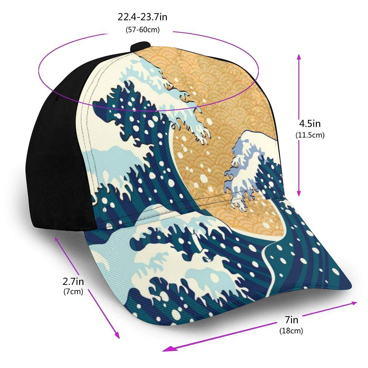Hip Hop Sun Hat Baseball Cap, Sea Storm In Japan Traditional ...