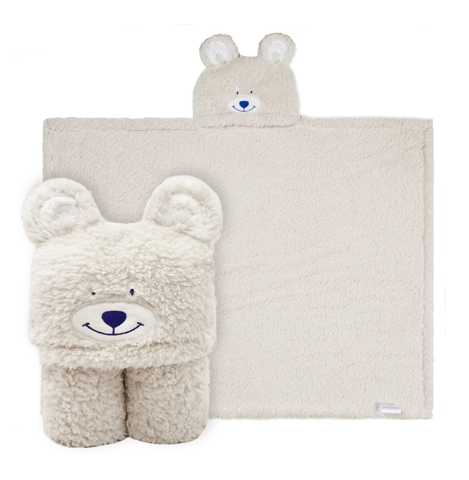 Kids Hooded Towel Blanket,Cute Animal Bear Plush Sherpa Fleece Bath Towel,Fit 3-10 Years Old,Best Gifts for Boys and Girls