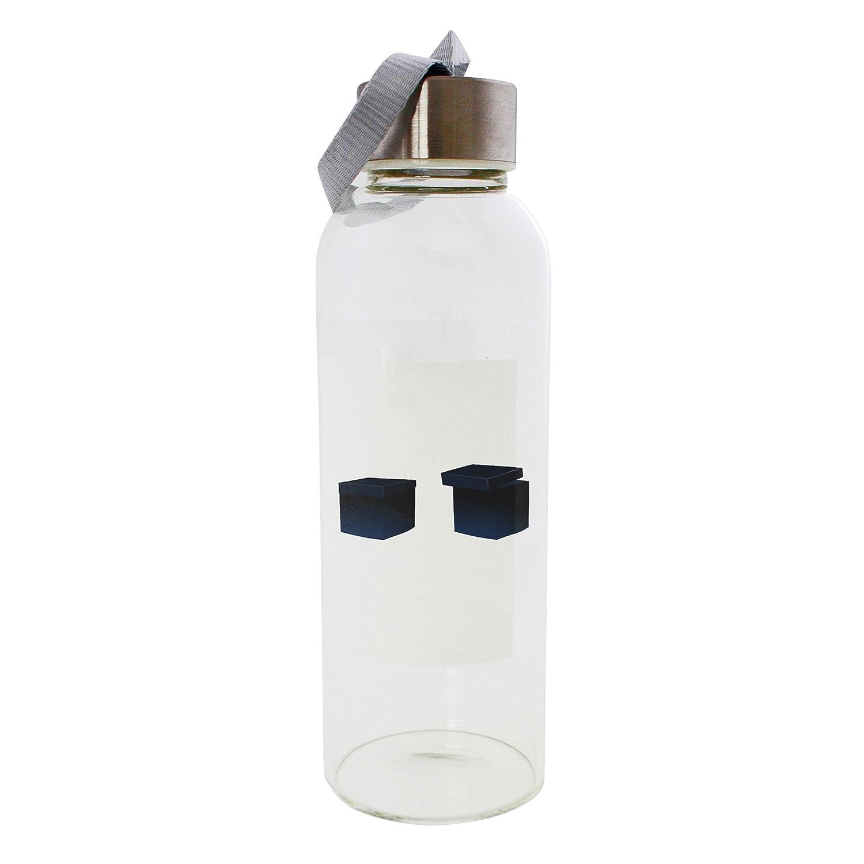 Dos caja de regalo Negro 420 ml botella de cristal: Amazon.es: Deportes y aire libre