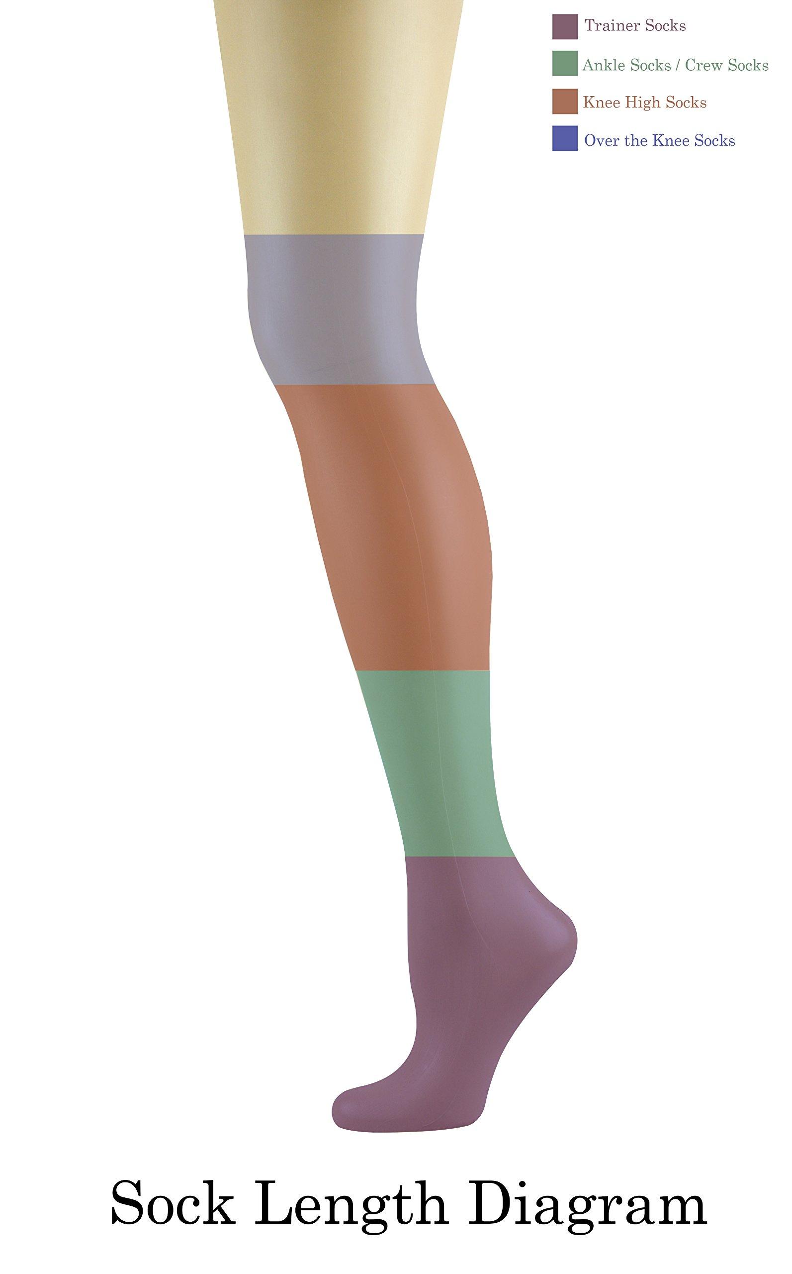 Mysocks Unisex Knee High Long Socks Orange,4-7 by MySocks (Image #2)