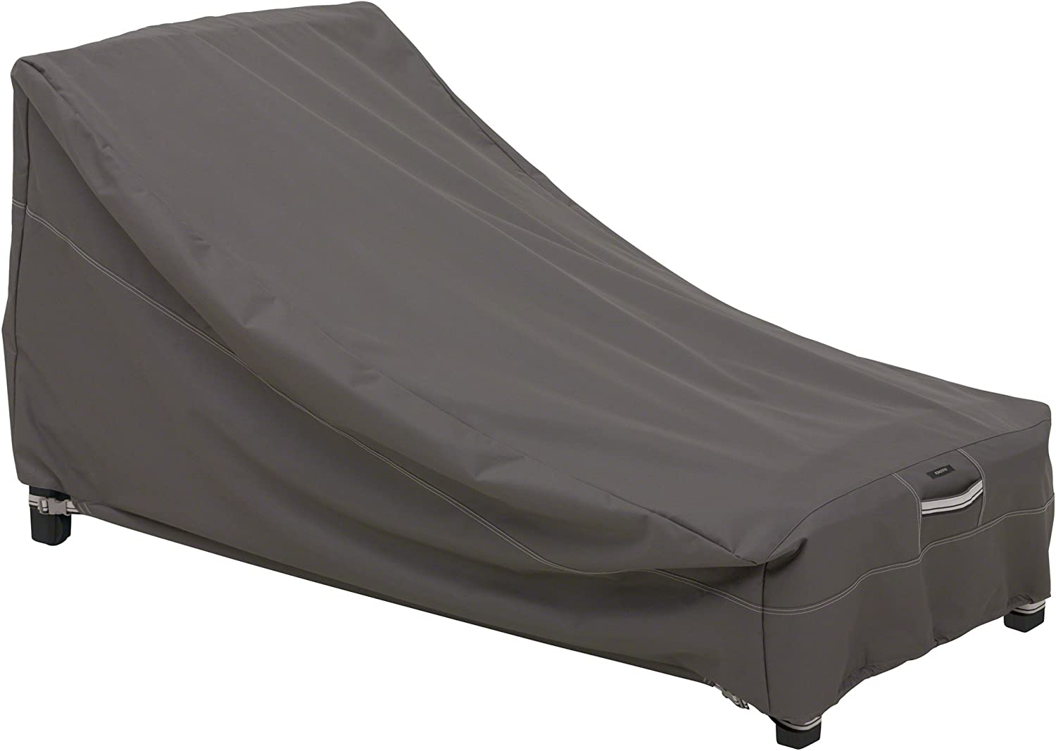 Classic Accessories 55-163-045101-EC Ravenna Water-Resistant 78 Inch Patio Day Chaise Lounge Cover, Taupe, Large Day Chaise Lounge : Patio Chaise Lounge Covers : Garden & Outdoor