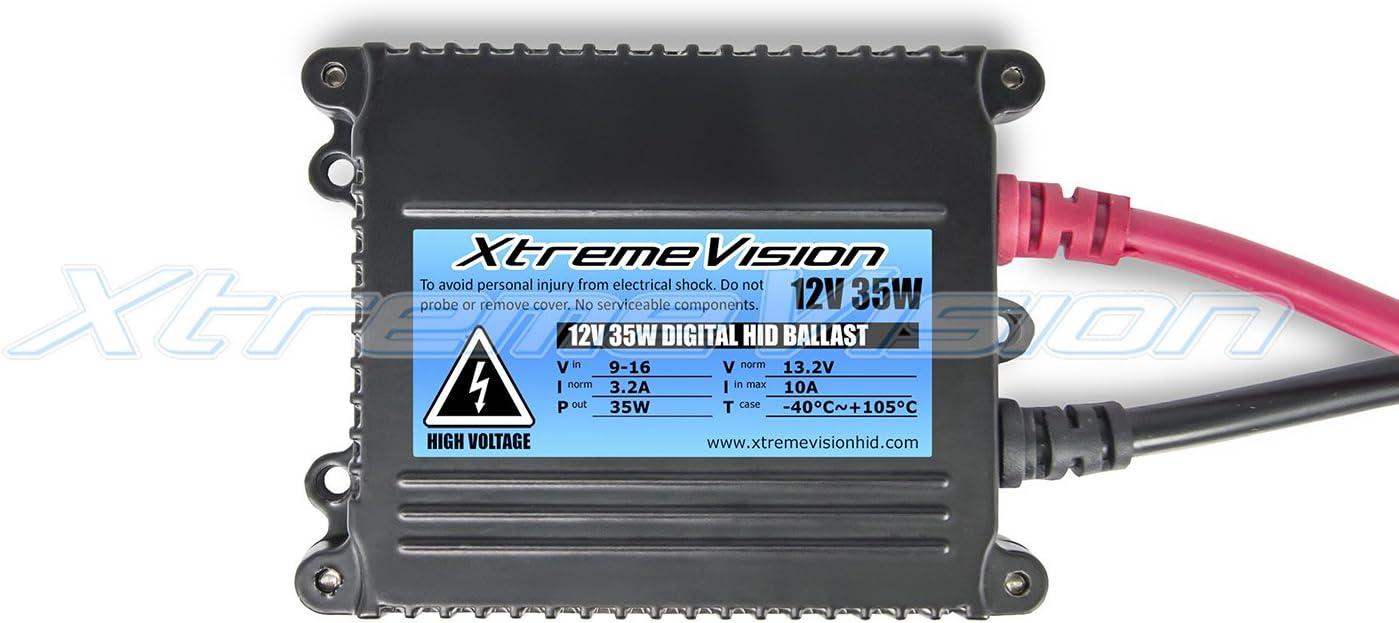 5K Bright White 2 Year Warranty Xtremevision DC 35W Xenon HID Lights with Premium Slim Ballast H11 5000K
