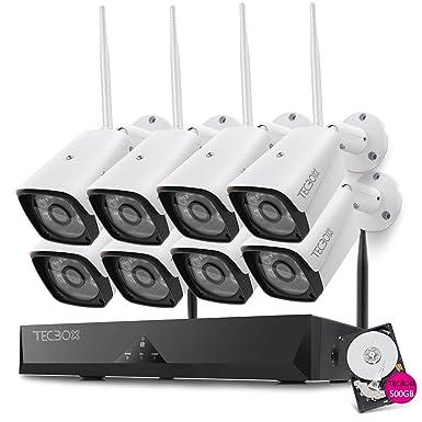 tecbox 8 canal 720P AHD cámara de seguridad en el hogar sistema grabador DVR con 8 ...
