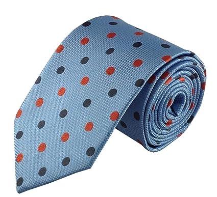 Azul con corbata de lunares, color gris y rojo: Amazon.es: Ropa y ...