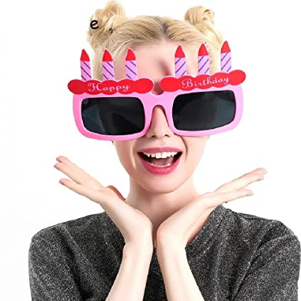 Amazon Giant Birthday Cake Candles Happy Props Glasses Novelty Sunglasse Sports Outdoors