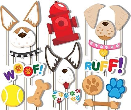 Amazon.com: Cachorro Perro Partido Photo Booth Props Kit ...