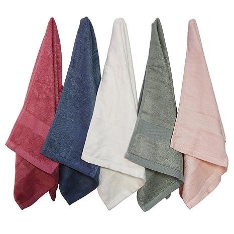 Juego de toallas de mano de bambú toallas de baño, suave Toallitas absorbentes toallas de