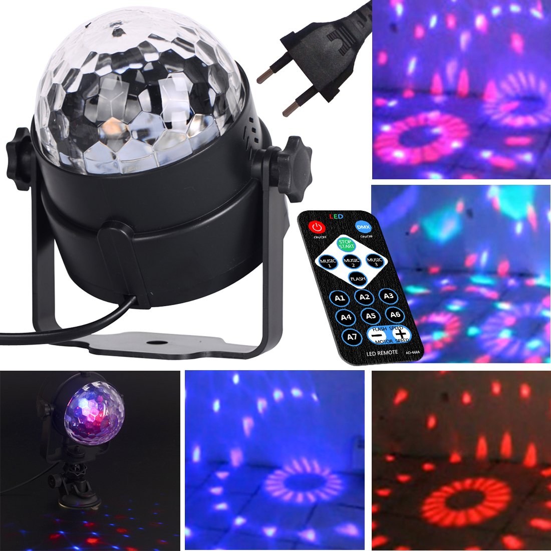 Zitfri Lumi Ere Discotheque Boule Disco Projecteur Lumi Ere Led