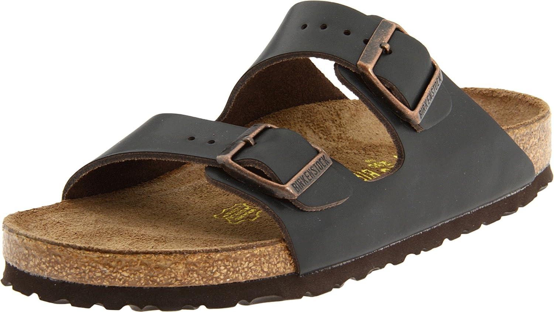 Birkenstock Birkenstock Unisex Arizona Soft Footbed Sandal,Brown,38 N Eu
